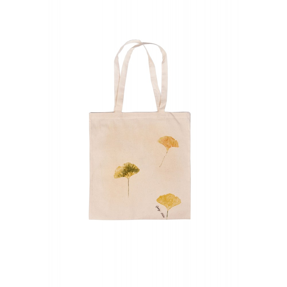 Shopping bag design in cotone - Gingko biloba