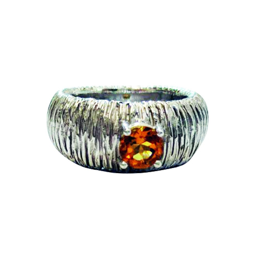 Anello in argento Striped del brand di design Artefatto