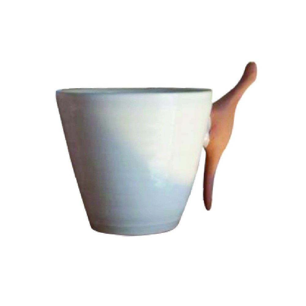 Tazza con manico in terracotta